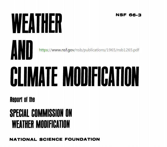 Weather and Climate Modification