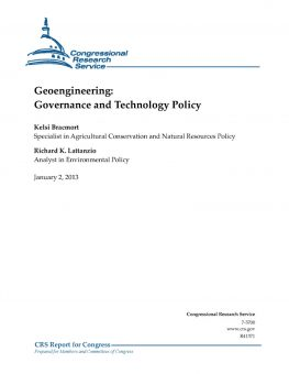 Geoengineering: Governance and Technology Policy