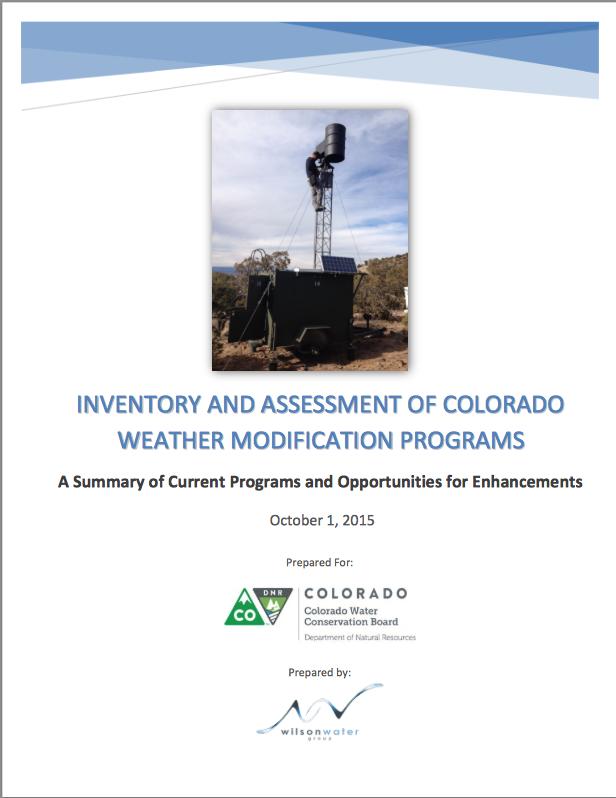 Weather Modification Programs Colorado 2015