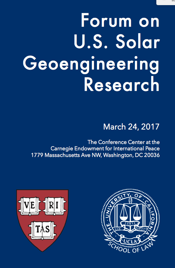 essays on the economics of geoengineering The us national academy of sciences confirms that geoengineering geoengineering: don't just do with the publication of a policy essay in foreign affairs.