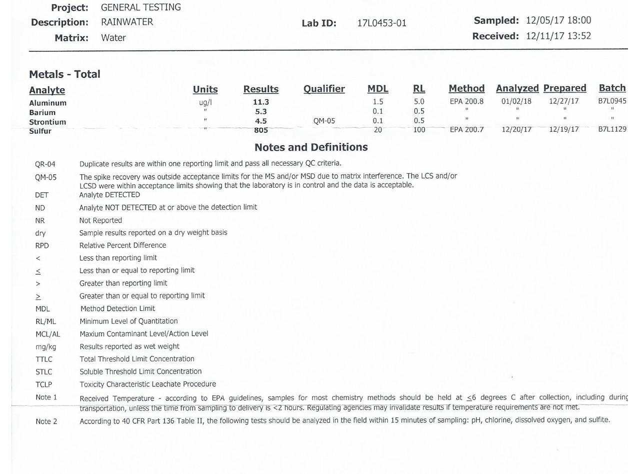 Lab tests zero geoengineering wayne pennsylvania 12517 buycottarizona
